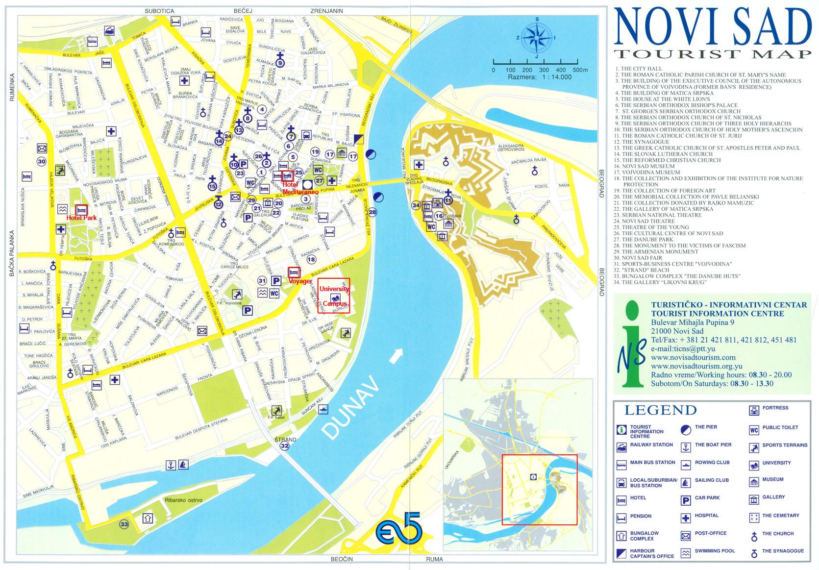 mapa ns Danube Rectors' Conference   Novi Sad mapa ns